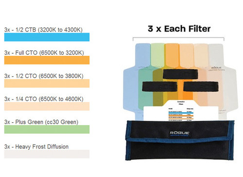 Rogue Color Correction Filter Kit Gels - Pasco Camera ExchangePasco